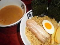 「鶏塩ゆずつけ麺 750円(税別)」@牛角 高宮店の写真