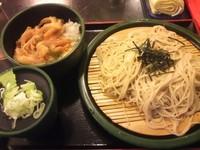 「かきあげ丼セット(ざるそば)」@ゆで太郎 太田新井町店の写真