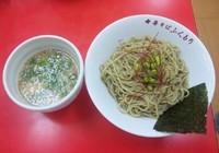 「【限定】 枝豆の香る冷やし塩つけ麺:800円」@中華そば ふくもりの写真