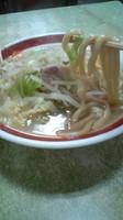 「Aセット(太麺タンメン+餃子6個)800円」@来来来の写真