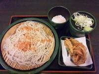 「朝そば・温泉玉子(冷)290円」@ゆで太郎 船橋北口店の写真