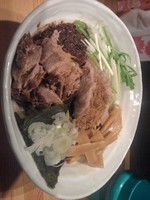 「辛味油そば大盛」@ら〜めん台風。の写真