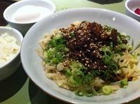 「汁なしあえ坦々麺」@ちょもらんま酒場 恵比寿東口店の写真