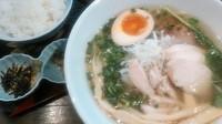 「軍鶏塩らーめん+茶漬けセット」@麺や 蒼 AOIの写真