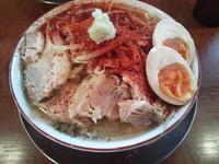 「やんちゃ流ラーメン 750円(クーポンで煮玉子追加)」@らーめん キラリの写真