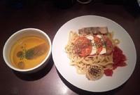 「【限定】 冷製トマトカリーつけ麺:900円」@麺屋武蔵 武仁の写真