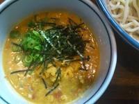 「生ウニのつけ麺 ¥時価+ビール2本」@ラーメンアキラの写真
