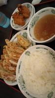 「W餃子定食600円」@日高屋 北柏駅南口店の写真