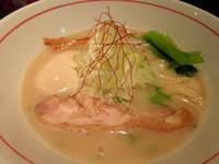「【限定】 地鶏白湯ラーメン800円+味玉100円」@麺肴 ひづきの写真
