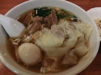 「角煮ワンタンメンと小チャーハンのセット(850円)」@中国料理 一番の写真