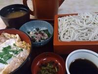 「満腹セット ミニカツ丼+もり_900円」@木挽町砂場の写真