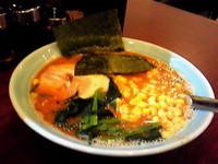 「赤味噌らーめん¥750→¥500(開店特価)+コーン¥50」@横浜らーめん いちばん家の写真