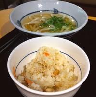 「朝のおすすめセット(¥300)」@讃岐うどん たら福本舗 IKE 麺 KITCHEN店の写真