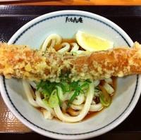 「ぶっかけうどん並(¥280)+大ちくわ天(¥100)」@たもん庵 赤坂店の写真