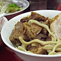 「たま小つけ麺豚入り+巻きちゃぁ(麺少なめ、ヤサイ)」@蓮爾 登戸店の写真