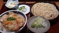 「天とじそば定食_980円」@天ぷら 左膳 銀座店の写真