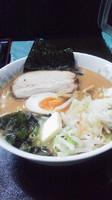 「味噌ラーメン+肉飯」@つけ麺 劉備 阿見店の写真