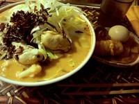 「辛味噌風味牡蠣野菜麺900円(オネダリメニュー)角煮特別提供」@とよやの写真