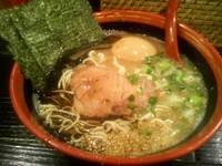 「煮玉子らーめん(麺硬めマー油入り)700円」@ら〜めん村田屋の写真