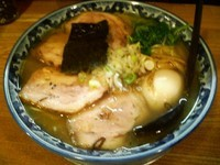 「味玉塩ちゃーしゅーめん大盛り1080円」@○屋製麺店の写真