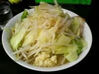 「ぶた麺大盛り(塩味野菜増しニンニク増し)800円」@風と花の写真