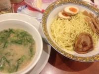 「釜炊 とんこつのネギタクつけ麺 733円」@バーミヤン 国領駅前店の写真