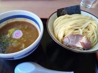 「つけ麺中盛り(サービス)+グリルチャーシュー」@大勝軒てつの写真