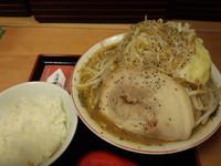 「辰次郎850円+ライス」@麺屋 龍王の写真