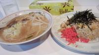 「味噌ラーメン(半ラーメン450円)」@ラーメン心喜の写真