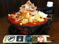 「男の根性黒醤油(ニンニクなし)+全大盛+5辛」@男のラーメン 麺屋わっしょいの写真