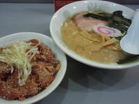 「Aセット(650円)(醤油らーめん+ミニチャーシュー丼)」@麺匠 矢向の写真