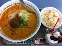 「担々麺+デザートセット」@スガキヤ 近江八幡イオン店の写真
