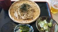 「ざる蕎麦+ラーメン+麦酒」@藤屋食堂の写真