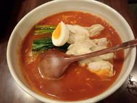 「トマト炎麺700+大盛50」@トマトラーメン炎麺の写真