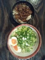 「汁なし担々麺+チャーシュー飯」@らぁめん紺屋の写真