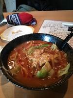 「特製煮込みカーリー麺 700円 半ライスサービス」@龍の写真