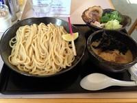 「【一周年記念限定】 かしわ つけ麺 シオ(850円)」@朝日屋の写真