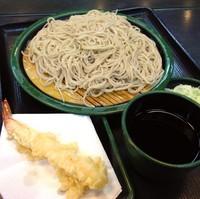 「もり(¥260)+海老天(クーポン)」@ゆで太郎 築地2丁目店の写真