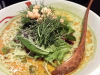 「緑坦々麺550円」@熱烈タンタン麺 五味五香の写真