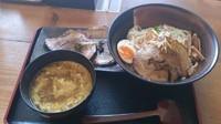 「カレーつけ麺+厚切りチャーシュー2枚」@和風らーめん 凪の写真