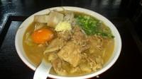 「元気肉玉そば800円(にんにく無料)+チャーシュー150円」@俊麺元気の写真