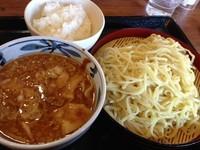 「味噌肉つけ麺(大盛・半ライス無料)クーポン使用」@北海道らあめん伝丸 356号香取店の写真