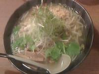 「鶏ごぼうラーメン塩大盛880円」@麺家 花蔵の写真