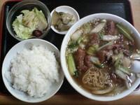 「牛腩麺定食+ご飯・サラダ・ザーサイ」@珍香苑の写真