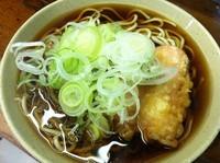 「ソーセージ天蕎麦【330円】」@スエヒロそばの写真