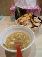 「塩つけ麺780円中盛+半肉増し150円」@麺場 風天の写真