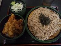 「とり舞茸天丼セット(500円)」@ゆで太郎 習志野大久保店の写真