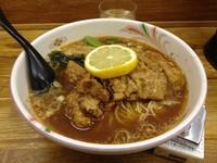 「いつきラーメン + スープの辛口」@拉麺 樹の写真