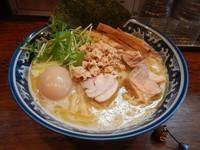「限定 濃厚鶏そば 大盛 750円 + 味玉 100円」@中華そば 旋の写真