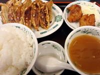 「W餃子定食600円+ご飯大盛(クーポン利用)」@日高屋 新橋栄通店の写真